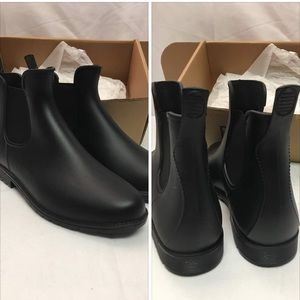 Ankle Rain Boots, Matte and Light Rubber Elastic